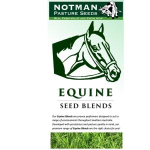 Equine Blends - Notman Pasture Seeds